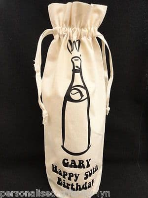 Personalised Bottle gift bag.