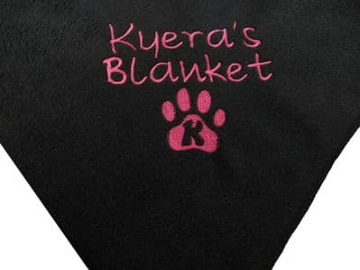 Personalised Dog Blanket, Letter Paw