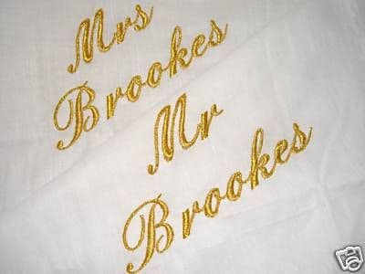 PERSONALISED PILLOWCASES  MR & MRS, JUST MARRIED