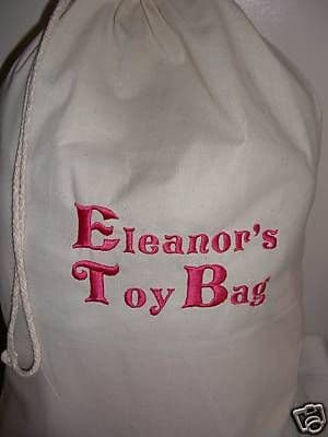 PERSONALISED STUFF BAG/SACK FOR TOYS,CLOTHES,LAUNDRY