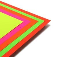 A2 Day Glo Fluorescent Card Assorted Colours - 25 Sheets