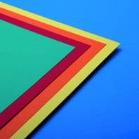 A3 Assorted Bright Coloured Card 180GSM - 100 sheets