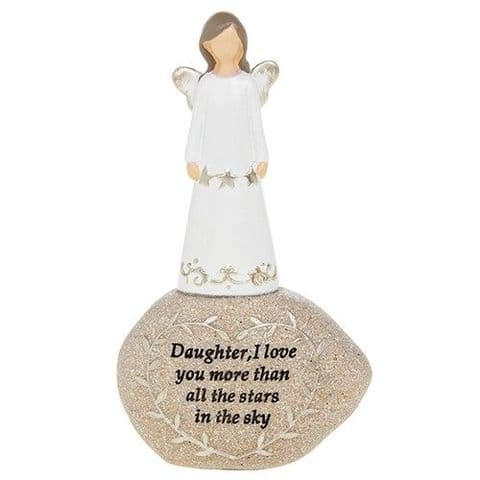 Angel Sentiment Stone -Daughter, I love you...