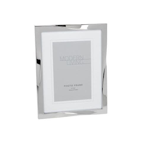 Atkinson Twisted frame silver effect photo frame 6x4