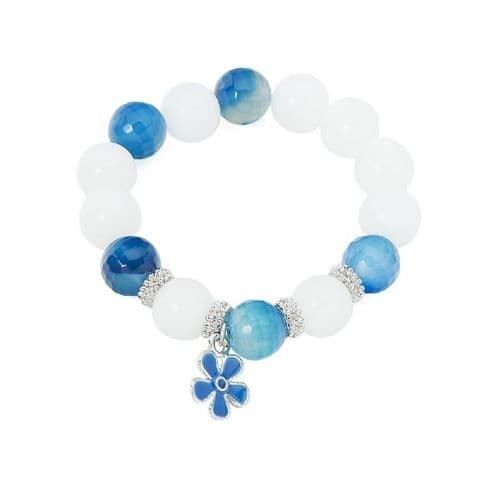 Beaded Bracelet Blue and White