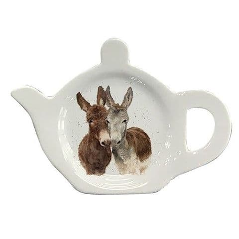 Bree Merryn Donkeys Tea bag Tidy Teapot Shaped