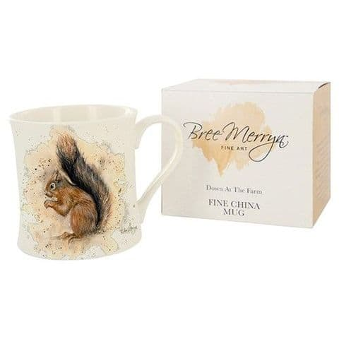 Bree Merryn Fine Art Fine China Mug Sunny Squirrel