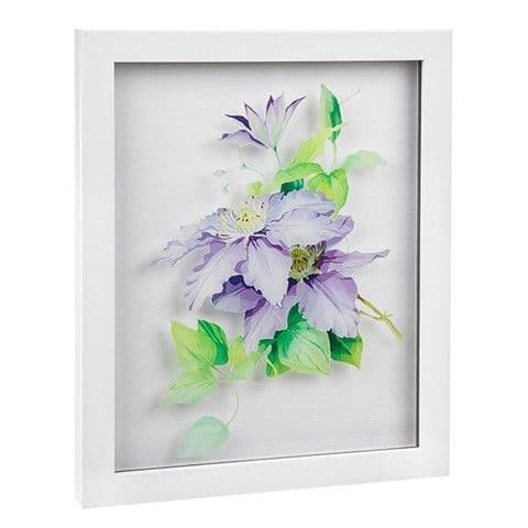 Clematis Flower Boxed Frame Wall Art  27.5cm