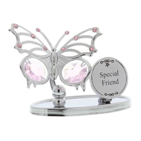 Crystocraft Chrome Plated Butterfly -  Special Friend