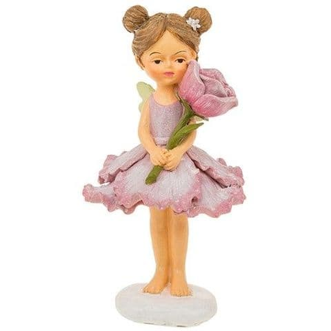 Cute Pastel Flower Fairy Ornaments Resin Figures Green 15cm