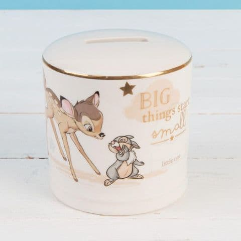 Disney Magical Beginnings Ceramic Money Box Bank - Bambi