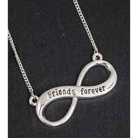 Equilibrium Silver Plated Infinity Loop - Friends Forever