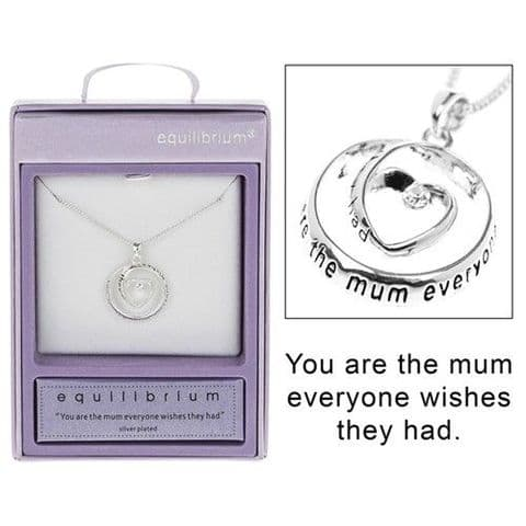 "Equilibrium Silver Plated Necklace ""You are the mum..."""