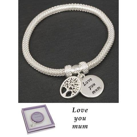 Equilibrium Tree of Life Bracelet Love You Mum Gift