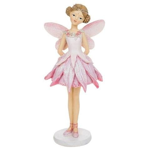 Floral Pastel Flower Fairy Ornaments Resin Figures Pink 23cm