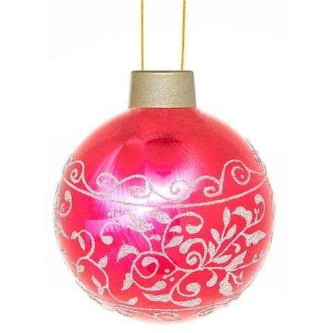 Giant LED Christmas Bauble Decoration - Red