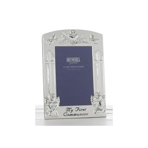 My First Communion Silver Effect Photo Frame 6 x 4