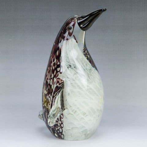 Objets d'Art Handmade Collectable Glass Figurine Ornament - Penguin 20cm