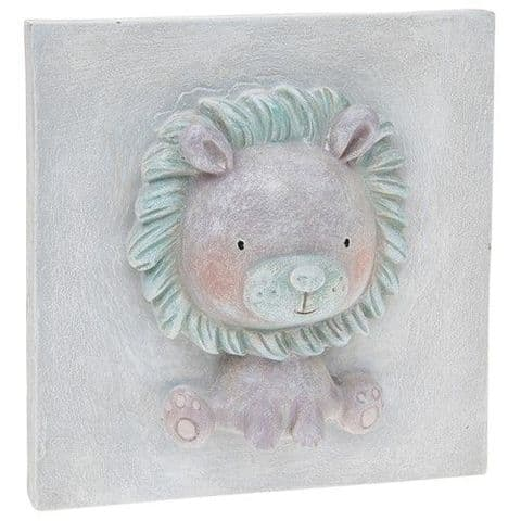 Pretty Pastel Cute Baby Lion 3D Plaque