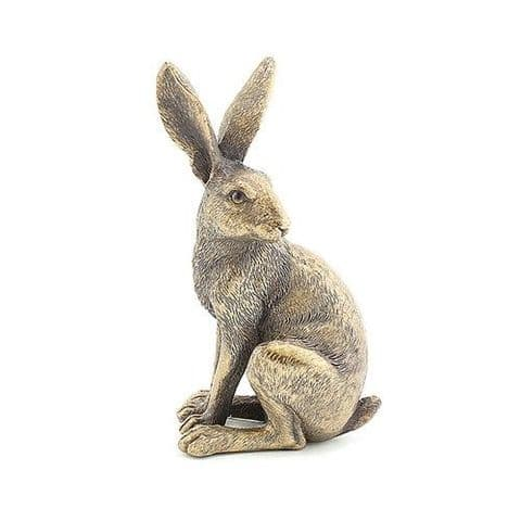 Reflections Bronze Sitting Hare Statue Ornament