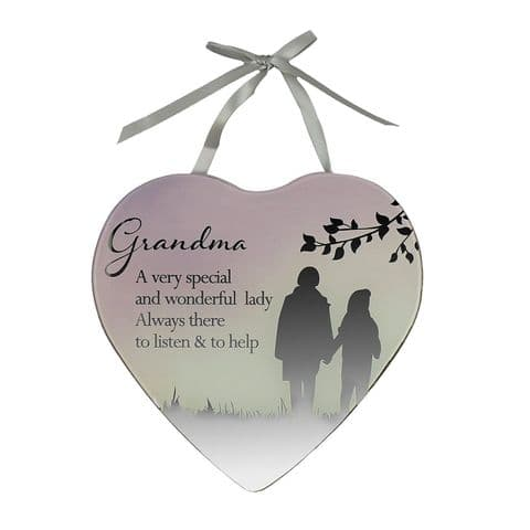 Reflections From The Heart Special Grandma Mirrored Hanging Plaque Gift