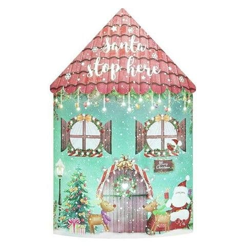 Starlight Christmas  Lantern - Colour Changing LED - Santa Stop Here