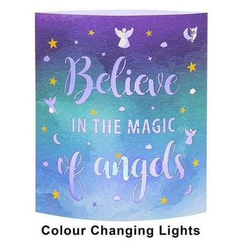 Starlight LED Colour Changing  Lantern - Believe in the Magic of Angels