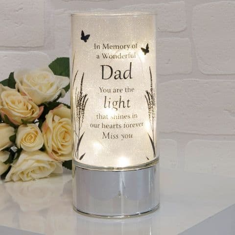 Thoughts Of You Memorial Glitter Tube Light - Dad