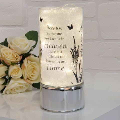 Thoughts Of You Memorial Glitter Tube Light - Heaven