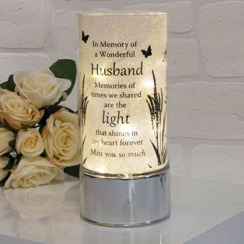 Thoughts Of You Memorial Glitter Tube Light - Husband