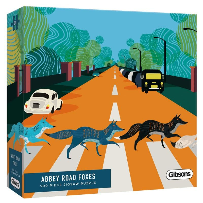 Abbey Road Foxes by Mathanki Kodavasal 500 Piece Gibsons Jigsaw