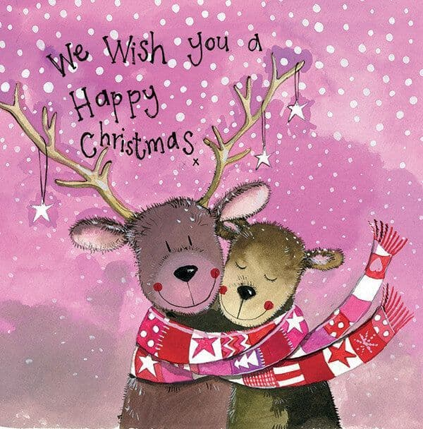 Alex Clark Pack of 5 Charity Christmas Cards, Mr & Mrs Reindeer
