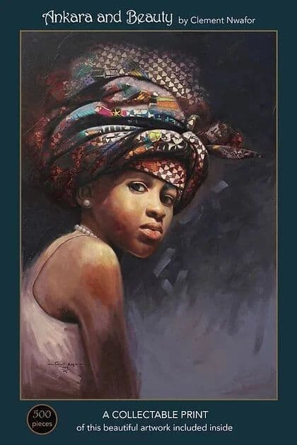 Ankara and Beauty by Clement Nwafor, 500 piece Art & Fable Premium Quality Jigsaw Puzzle