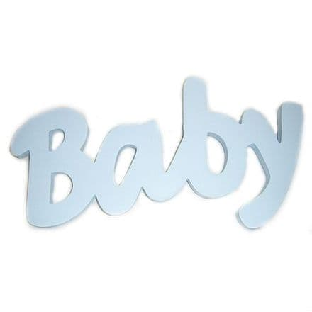 Baby Blue Word Plaque
