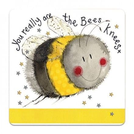 Bees Knees Corked Backed Coaster