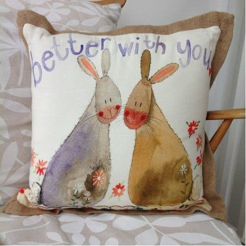 Better with You Cushion By Alex Clark