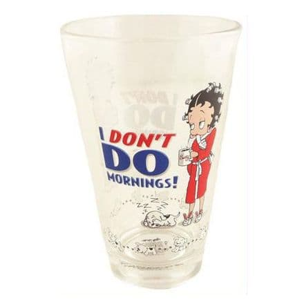 Betty Boop, I Don't Do Mornings Half Pint Glass