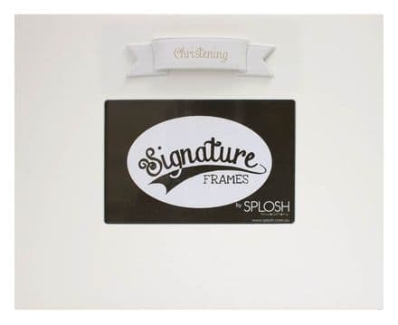 Christening Signature Photo Frame in White