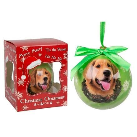Christmas Bauble, Golden Retriever