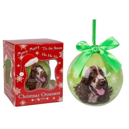 Christmas Bauble, Springer Spaniel
