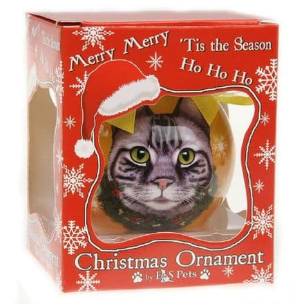 Christmas Bauble, Tabby Cat