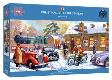 Christmas Eve at the Station by Kevin Walsh 636 Piece Gibsons Jigsaw