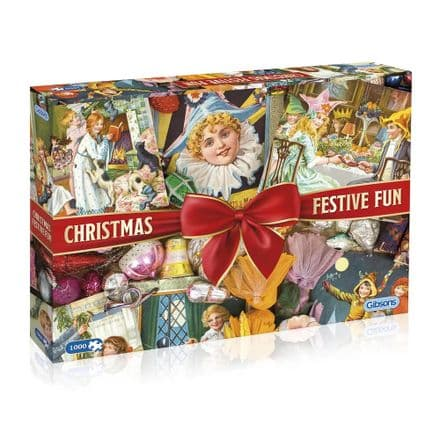 Christmas Festive Fun by Robert Opie 1000 Piece Gibsons Jigsaw