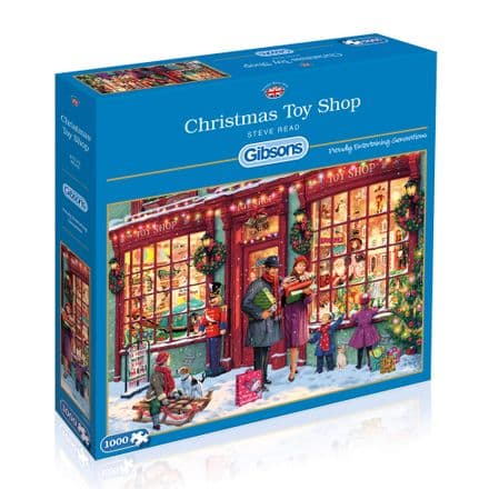 Christmas Toy Shop by Steve Read 1000 Piece Gibsons Jigsaw