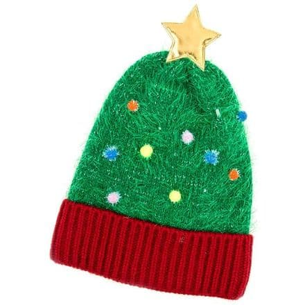 Christmas Tree Quality LED Hat