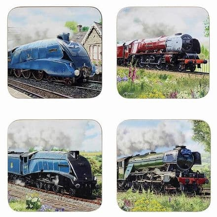 Classic Trains Set of 4 Coasters