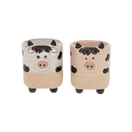 Cow Egg Cups Pot Pals