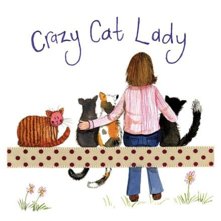 Crazy Cat Lady Corked Backed Coaster by Alex Clark