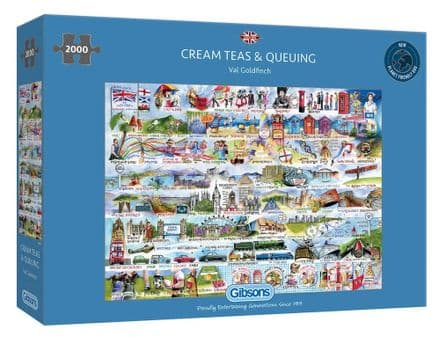 Cream Teas & Queuing by Val Goldfinch 2000 Piece Gibsons Jigsaw