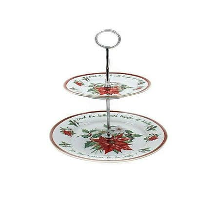 Deck the Halls Fine China Cake Stand